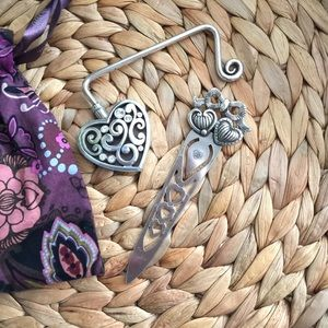 Brighton silver purse hook and book mark